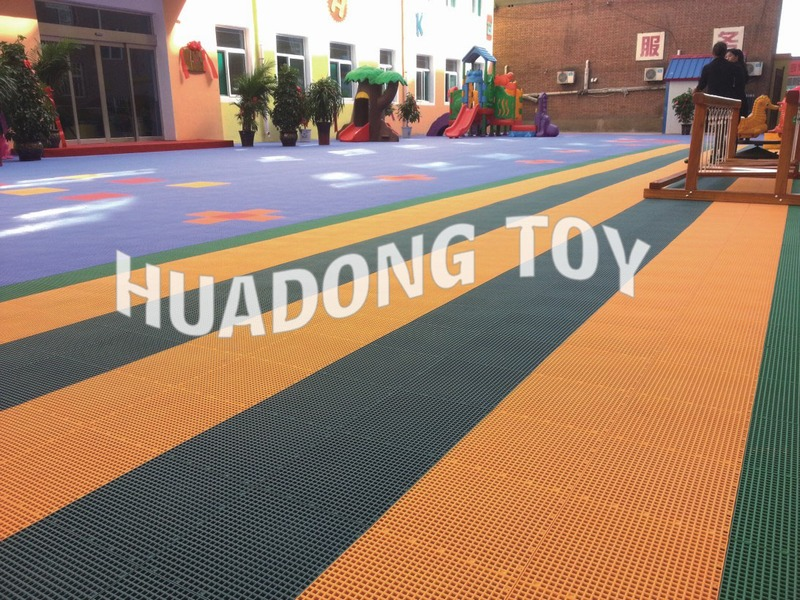 Floating type piece together plastic sports mat HD15A-235A