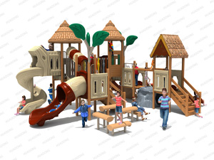 Wooden Series Outdoor Playground Slide Equipment HD-MZY003-19358