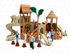 Wooden Series Outdoor Playground Slide Equipment HD-MZY006-19359