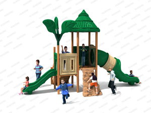 Wooden Series Outdoor Playground Slide Equipment HD-MZY009-19360