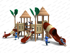 Wooden Series Outdoor Playground Slide Equipment HD-MZY010-19360