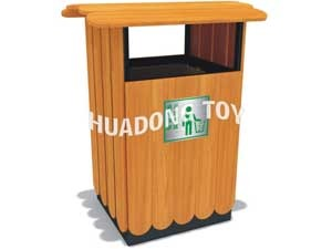 Wooden dustbin HD15B-145N